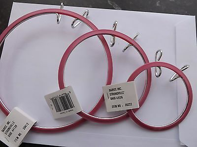 Spring tension Embroidery Hoop 3.5 , 5 and 7 inch Pink