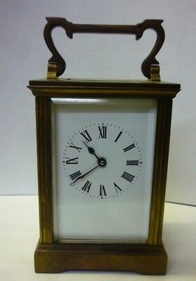Antique Brass Carriage Clock In Full Working Order