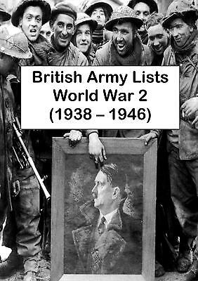 WORLD WAR 2 BRITISH ARMY LISTS - 84 BOOKS 2 DVDs (1938-1946) WW2 MEDAL RECORDS