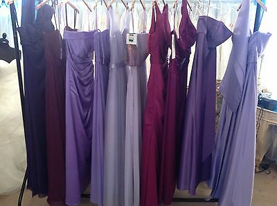 BNWT 80 X MORILEE/ROMANICA BRIDESMAID PROM DRESSES. ALL NEW WITH TAGs. JOB LOT!