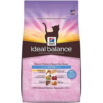 Hill's Ideal Balance Kitten Natural Chicken  Brown Rice Recipe Dry Cat Food,