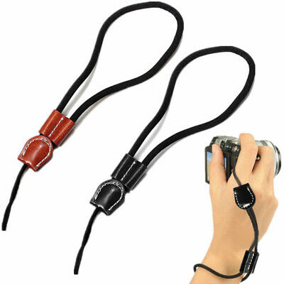 DSLR Camera Cell Phone Hand Grip Lanyard Wrist Strap String With Leather