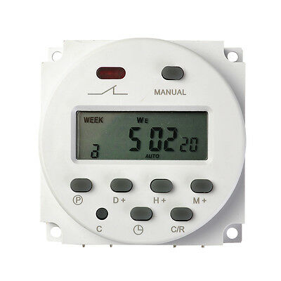 AC 12V 16A LCD Display Digital Power Programmable Timer Time Relay Switch