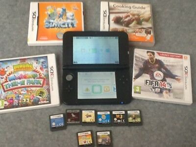 Nintendo 3DS XL Blue  Handheld System  WITH 12 GAMES
