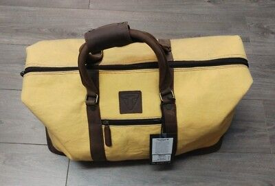 Mlus15202 Triumph Canvas Leather Weekend Holdall Ex Display