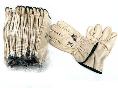 P/K OF 12 pair x Size MEDIUM RIGGA MATE LEATHER GLOVE (Brand new)