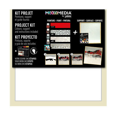 Pebeo Mixed Media Project Kit Set with Art Panel, Prisme, Moon Paint & Gold Leaf