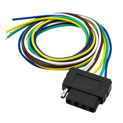 5 pin trailer wiring harness 4 flat to 7-way rv trailer light plug wire harness & 7-way ...