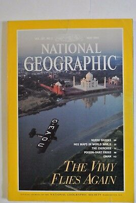 National Geographic Magazine. May, 1995. The Vimy Flies Again. The Cherokee.