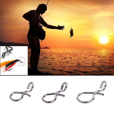 50pcs /Lot Fly Fishing Snap Quick Change for Hook Lures Outdoor Fishing/Fashion