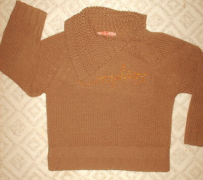 COMPLICES - PULL tricot brun- manches longues-Marque Lilly Love- 6 ans (114)