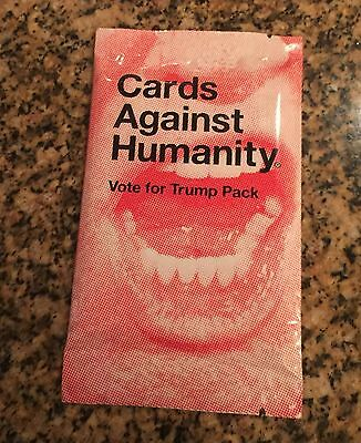 Cards Against Humanity Vote For Trump Expansion Pack Sealed Unopened VERY RARE