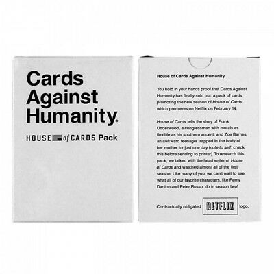 Cards Against Humanity House Of Cards Expansion Pack New Unopened RARE Collector