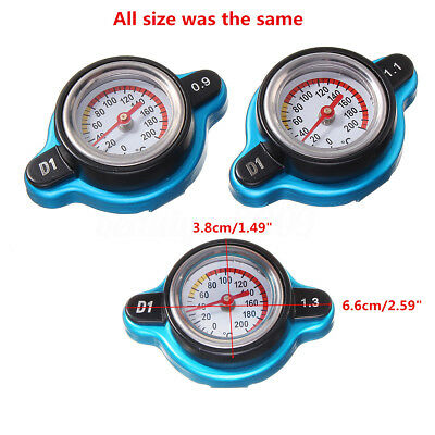 Car 0.9/1.1/1.3 Bar Thermo Thermostatic Radiator Cover Water Temperature Gauge