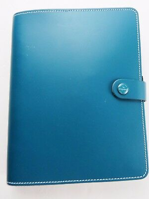 Filofax, Dark Aqua, Leather, A5, Custom Dividers, Pages, Stickers, Many Extras