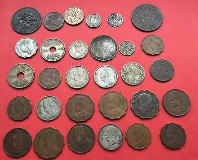 30 Egypt ,Iraq ,middle east coins.