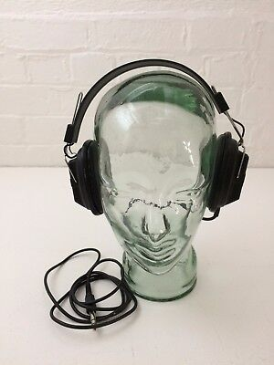 Vintage Phillips EM6050 Black Over Ear Ear-Cup Headphones