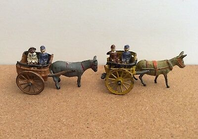 CHARBENS - Diecast DONKEY CARTS 2 versions with 4 seated Children