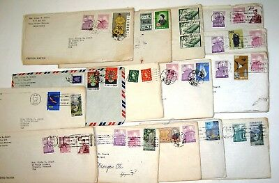 Stamped, Postmarked Envelopes; Taipei, Taiwan, (Formosa) Free China 1960 -1963