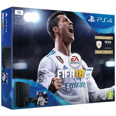 SONY Console Playstation 4 PS4 1 Tb Slim Black + Fifa 18 Limited Bundle