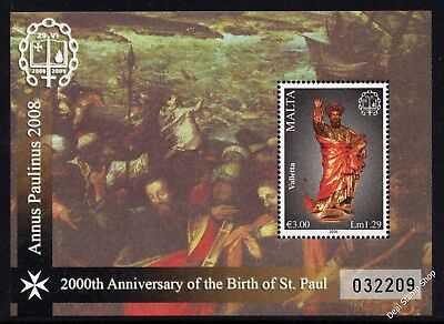 Malta 2008 Wooden Statue Gafa St. Paul Miniature Sheet SG MS1598 Unmounted Mint