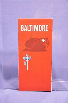 1970 BALTIMORE map - American Oil Company (like Standard) - VERY NICE from 1970!