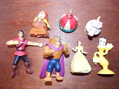 Bundle Disney Beauty and the Beast figure toy playset potts Belle Lumiere Gaston