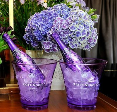 Taittinger Champagne Nocturne Ice Bucket Polycarb Violet Poolside Hot Tub X1
