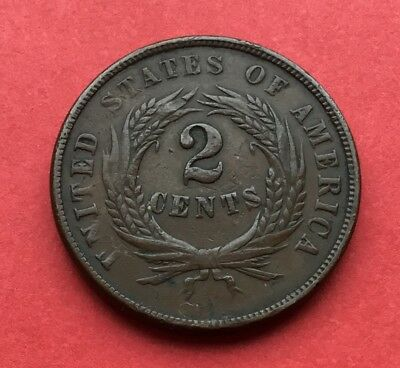 1864 United States 2 cent coin