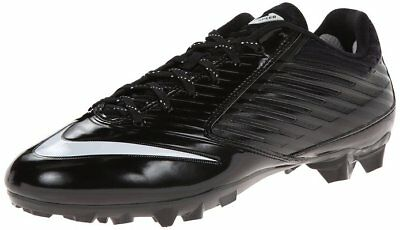 new mens 8.5 nike vapor speed TD low football/lacrosse cleats black/white