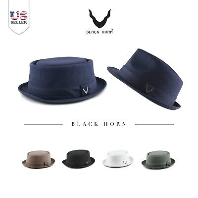 c6d7631aebb MEN S EVERYDAY 2TONE Light Summer Porkpie Boater Derby Fedora Sun ...
