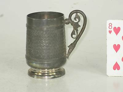 Antique Simpson Hall Miller Co Quadruple Plated Cup