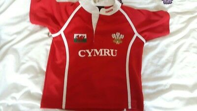 boys welsh rugby shirt 4-5 years