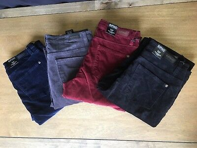 BUFFALO DAVID BITTON Mid-Rise Skinny LADIES CORDUROY w/stretch pants 4 colors NE