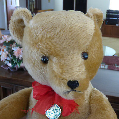 "Hermann Teddy Bear, Mohair, 24"", Mint, #62-61, Made in West Germany, Growler"