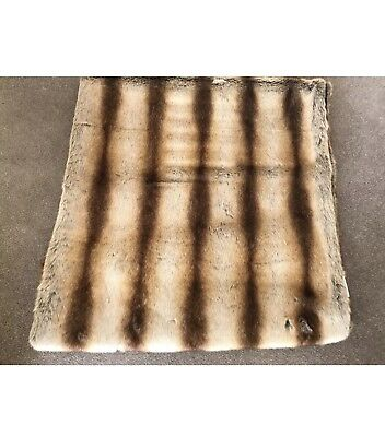 Helen Moore Double Faux Fur Throw New