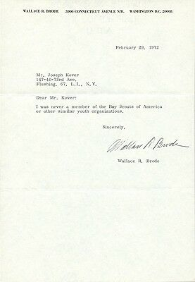 Chemist WALLACE R. BRODE Signed Letter