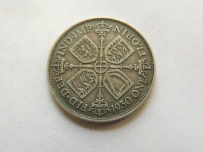 1930 George V Florin / Two Shillings Silver Coin - Ref 146