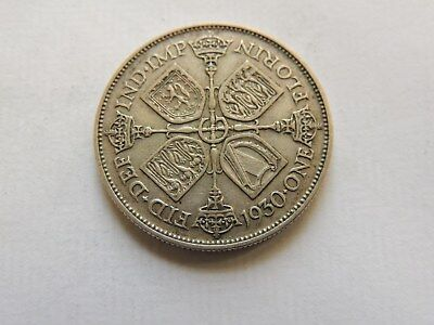 1930 George V Florin / Two Shillings Silver Coin - Ref 72