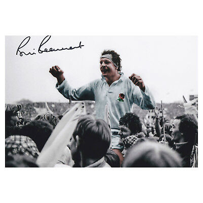 Bill Beaumont Signed 1980 Grand Slam Photo England Ruby Autograph Memorabilia
