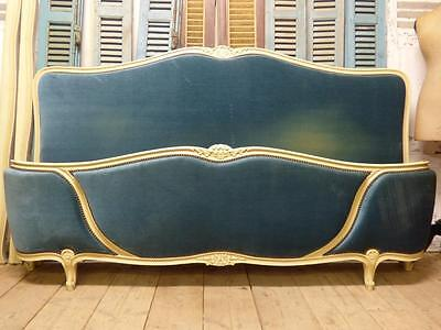 VERY RARE VINTAGE FRENCH SUPER KING SIZE / EMPEROR BED -  2m x 2m