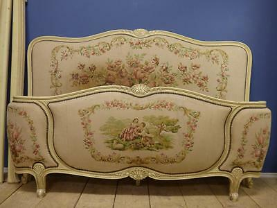 VINTAGE KING SIZE FRENCH BED - 160cm wide - g138 - over 200 French beds in stock