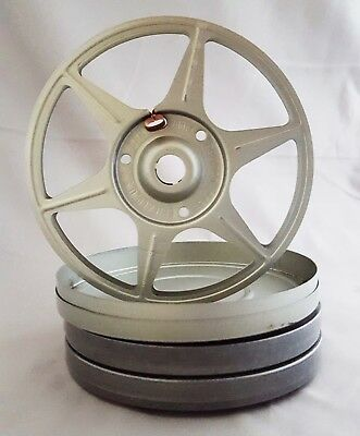 Super 8/8mm Film Reels with Cans, 200 ft, Lot of 3, NOS, Free Shipping