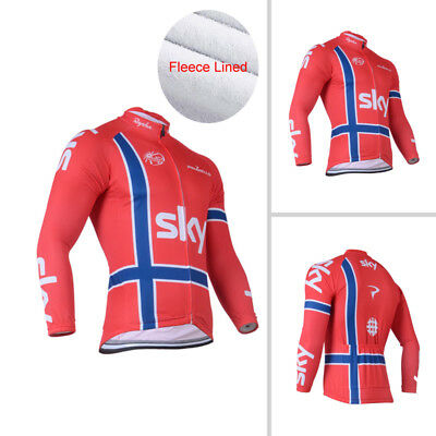 Fit Asia 2XL Mens Cycling Thermal Jersey Fleece Bike Riding Long Sleeve Jackets