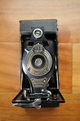 Vintage EASTMAN KODAK No. 2-A Folding Autographic Brownie Antique Camera