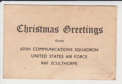 Christmas Greetings From 605Th Communications Squadron Usaf Raf Sculthorpe C1945