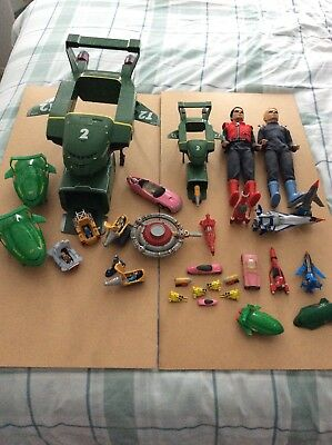 Vintage Thunderbirds Capt. Scarlet Joblot, Mini Figures,Sounds,Great Lot.
