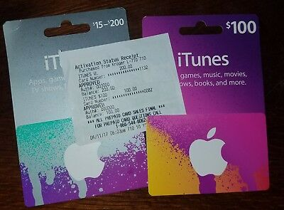 itunes gift cards $300