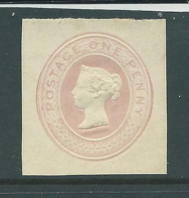 Queen Victoria One Penny Embossed Square Cut MINT
