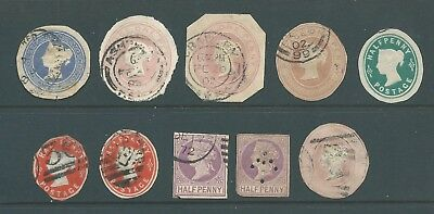 Queen Victoria Mix of 10 Pre-Paid Some with Good Postmarks